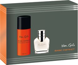 Van Gils Basic Instinct 40 ml Eau de toilette + Deodorant spray 150 ml.