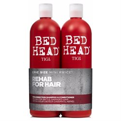 Tigi Bed Head Rehab For Hair Resurrection 750 ml. Shampoo & 750 ml. Conditioner